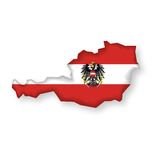 Vector Flag Austria Stock Photo