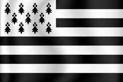 Vector flag of Brittany Stock Image