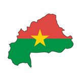 Vector Flag Burkina Faso Royalty Free Stock Photo
