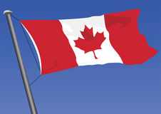 Vector Flag Of Canada. Vector illustration of the canadian flag Royalty Free Stock Images