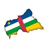 Vector Flag Central African Republic Stock Images