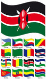 Vector Flag Collection. Cape Verde; Central African etc royalty free illustration
