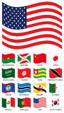 Vector Flag Collection Stock Photography
