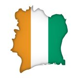 Vector Flag Cote d'Ivoire Stock Images