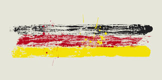 Vector flag by dirty brush. Vector flag of GERMANY by dirty brush Stock Photography