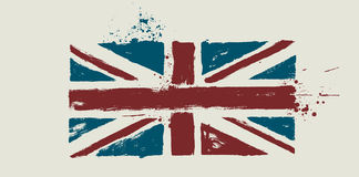 Vector flag by dirty brush. Vector flag of GREAT BRITAIN by dirty brush Stock Photos
