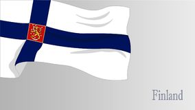 Flag Finland. Vector Flag Finland,Independence Day of Finland Stock Photography