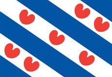 Vector flag of Friesland or Frisia, Netherland. Vector flag of Friesland or Frisia is a province in the northwest of the Netherlands Stock Image