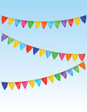 Vector flag garland Stock Photos
