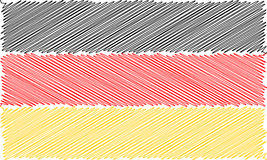 Vector flag of German pencil drawing vector illustration. Using for decoration works. Royalty Free Stock Photography