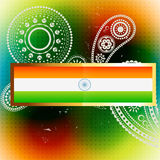 Vector flag of india Royalty Free Stock Photo