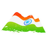 Vector flag of india. In wave style Royalty Free Stock Photo