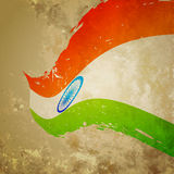 Vector flag of india. Vector wave style indian flag background Stock Photos
