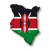 Vector Flag Kenya Stock Image