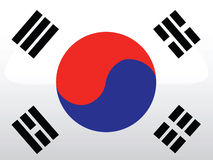 Vector Flag Of Korea Royalty Free Stock Photos
