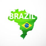 Vector flag maps of Brazil Royalty Free Stock Image