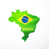 Vector flag maps of Brazil Stock Image