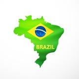 Vector flag maps of Brazil Stock Image