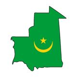 Vector Flag Mauritania Stock Photography