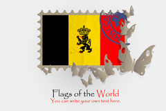 Vector flag measurements with butterflies from paper. Of Belgium Royalty Free Stock Photos
