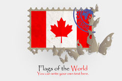 Vector flag measurements with butterflies from paper. Of Canada Royalty Free Stock Photo