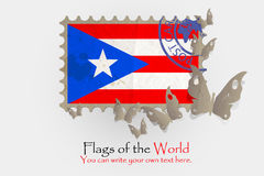Vector flag measurements with butterflies from paper. Of Puerto Rico Stock Images