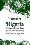 Vector flag of Nigeria. Vector illustration for Nigerian National Day.  Royalty Free Stock Photos