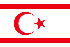Vector flag of Northern Cyprus. Stock Photography