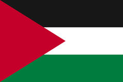 Vector flag of Palestine state. Stock Image