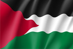 Vector flag of Palestine state. Royalty Free Stock Images