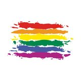 Vector Flag Rainbow Stock Photography