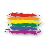 Vector Flag Rainbow stock illustration