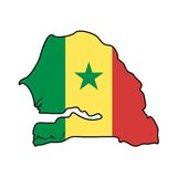 Vector Flag Senegal Royalty Free Stock Image