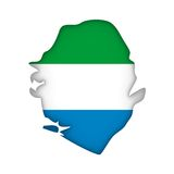 Vector Flag Sierra Leone Royalty Free Stock Photo