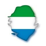 Vector Flag Sierra Leone Stock Images