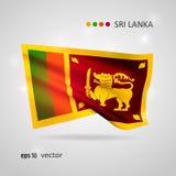 Vector flag of Sri Lanka Royalty Free Stock Image