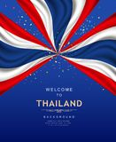 Vector Flag of Thailand banner poster with colorful paper flyer Royalty Free Stock Image