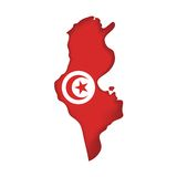 Vector Flag Tunisia Royalty Free Stock Photo