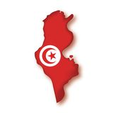 Vector Flag Tunisia Royalty Free Stock Photography