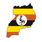 Vector Flag Uganda Stock Image
