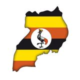 Vector Flag Uganda Royalty Free Stock Photo