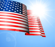 Vector Flag of the United States Stock Photography