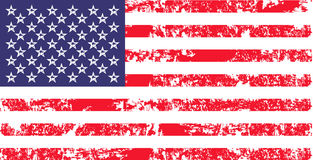 Vector flag of USA in oficcial color, proportion correctly. American national flag, independence day symbol. Royalty Free Stock Photos