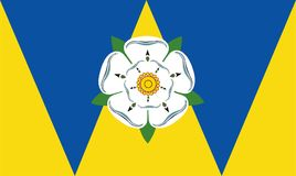 Vector flag of West Yorkshire. Vector flag of West Yorkshire, West Yorkshire and the Humber, United Kingdom. British province territory Royalty Free Stock Images