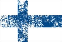 Vector Flagge von Finlnland in der offiziellen Farbe, Anteil richtig Lizenzfreies Stockbild