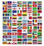 Vector flags Stock Images