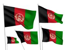 Vector flags of Afghanistan Royalty Free Stock Photography
