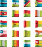 Vector flags. Africa, part 11 Royalty Free Stock Images