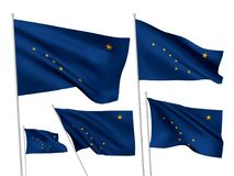 Vector flags of Alaska state Stock Photography