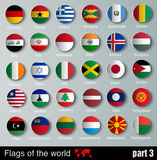 Vector Flags of all countries Royalty Free Stock Photography